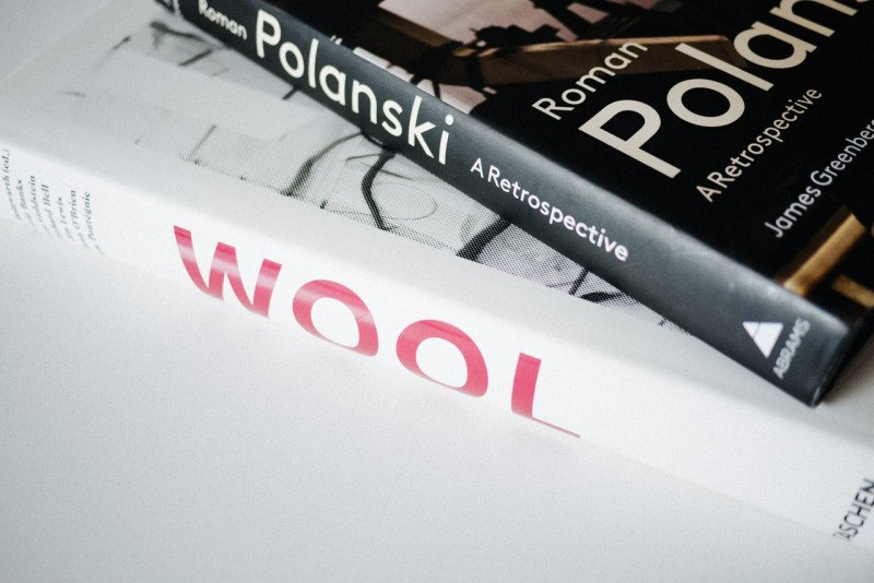 F I G T N Y Christopher Wool Book and Roman Polanski Book