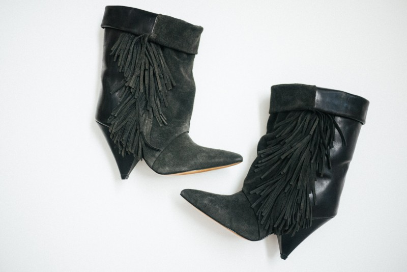 F I G T N Y Isabel Marant for H&M Fringe booties