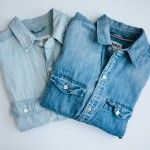 aritzia sutter boyfriend-fit chambray button-ups