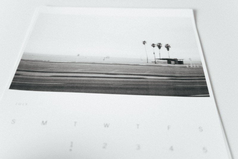 F I G T N Y home made photo calendar