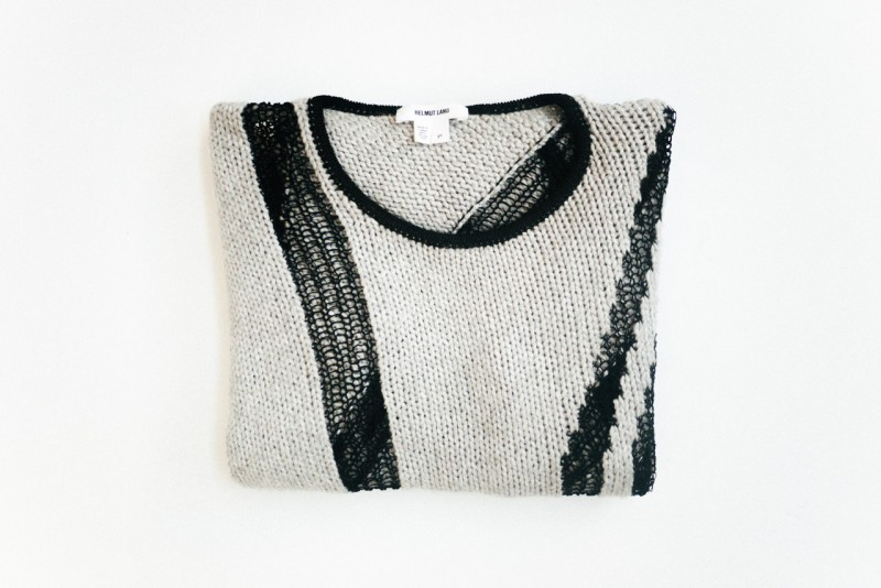 figtny.com Helmut Lang asymmetrical sweater