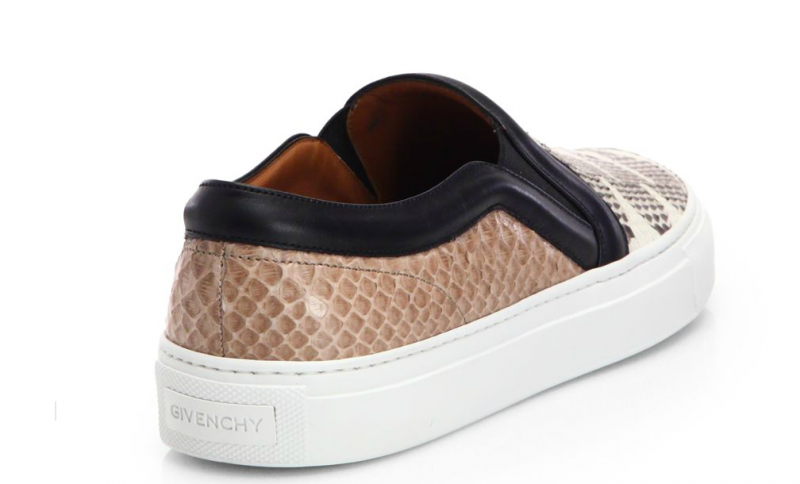 Givenchy snake embossed leather slip on