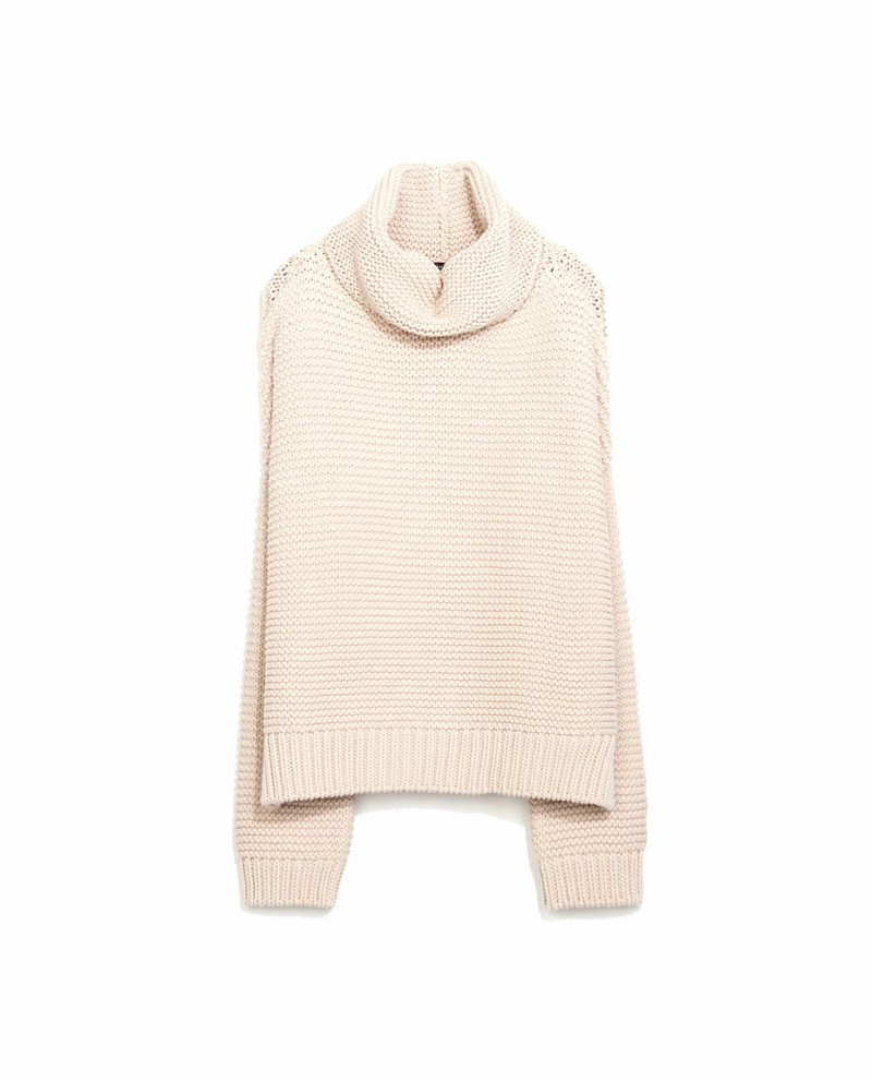 ZARA high neck sweater - bisque