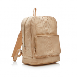 Current Obsession / Gelareh Mizrahi Natural Python Classic Bookbag