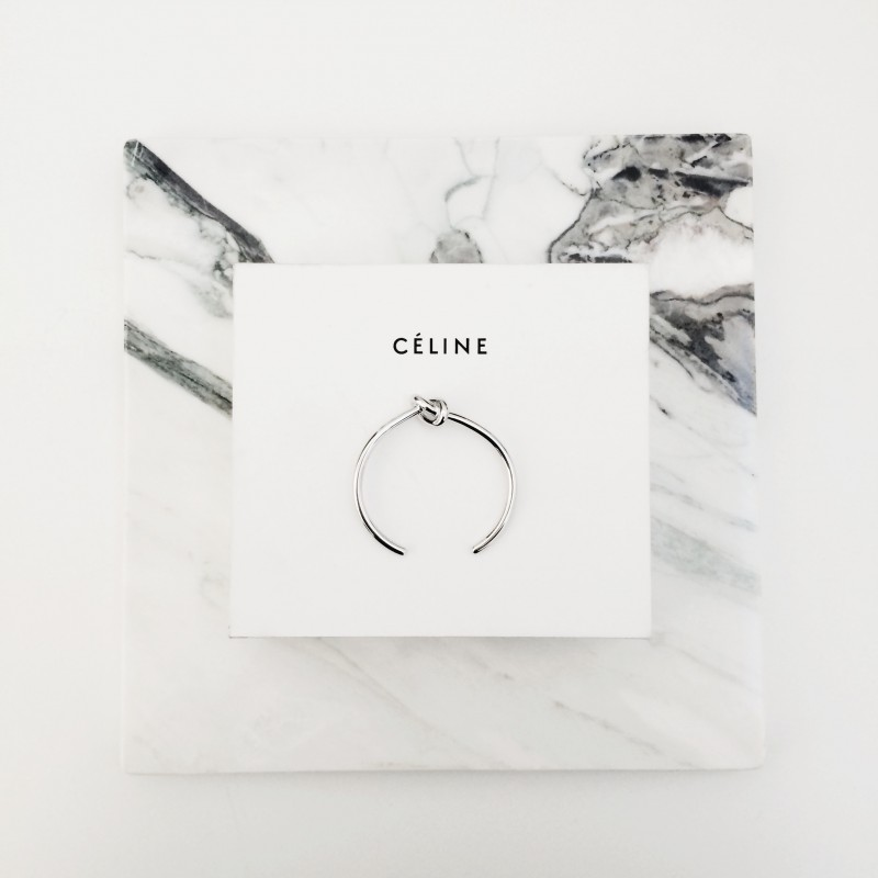 figtny.com | Celine Thin Silver Knot Cuff