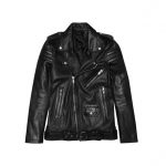 Current Obsession / BLK DNM Leather Biker Jacket