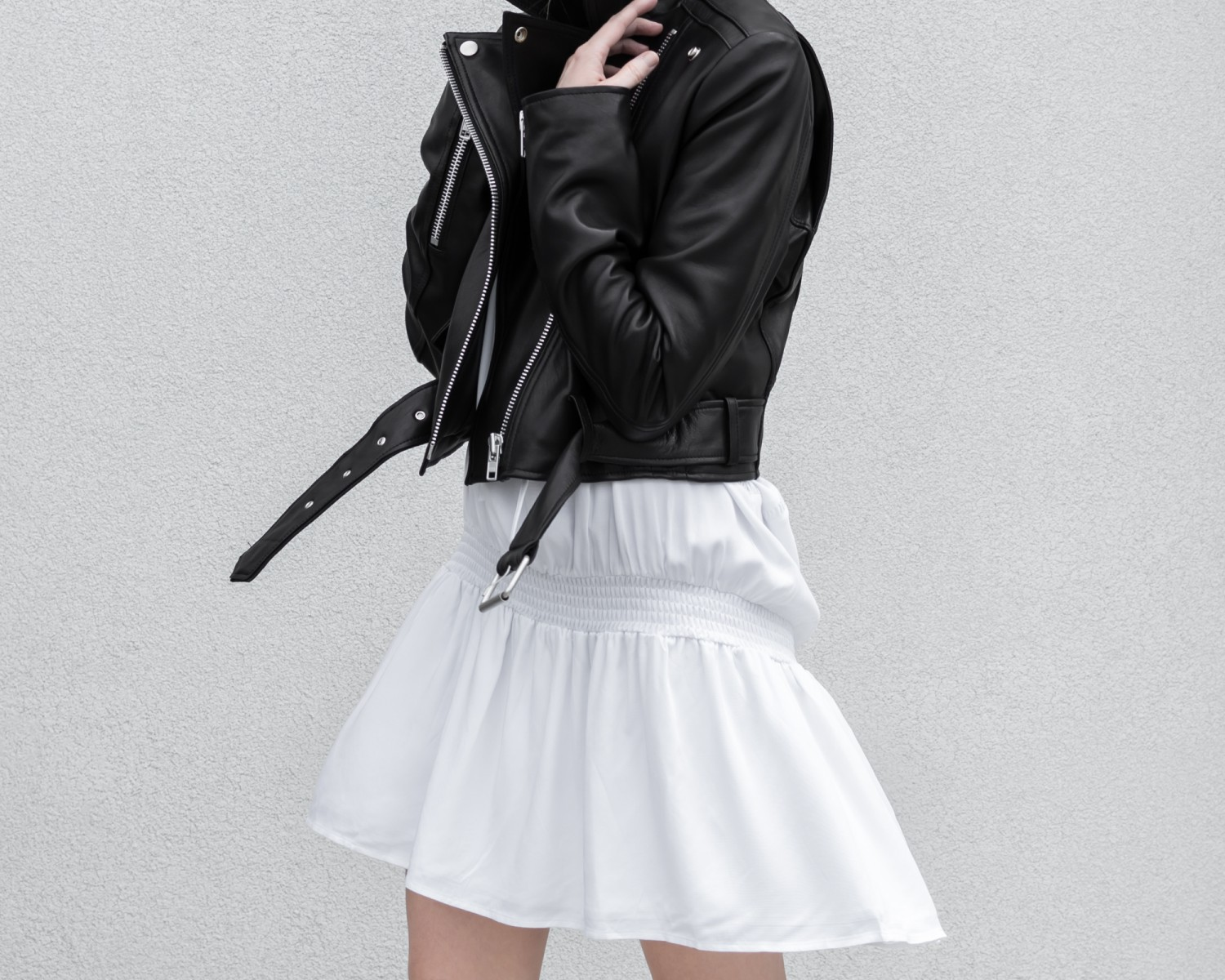 figtny.com | Primary NYC Leather Jacket and Dress