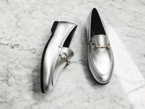 figtny.com | Gucci Jordaan Metallic Loafer