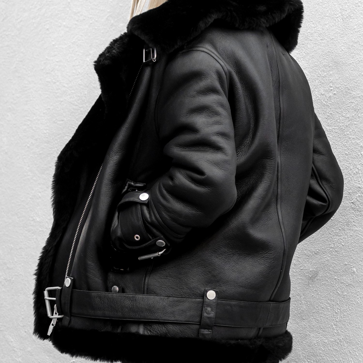 figtny.com | The Arrivals Oversized Shearling Jacket