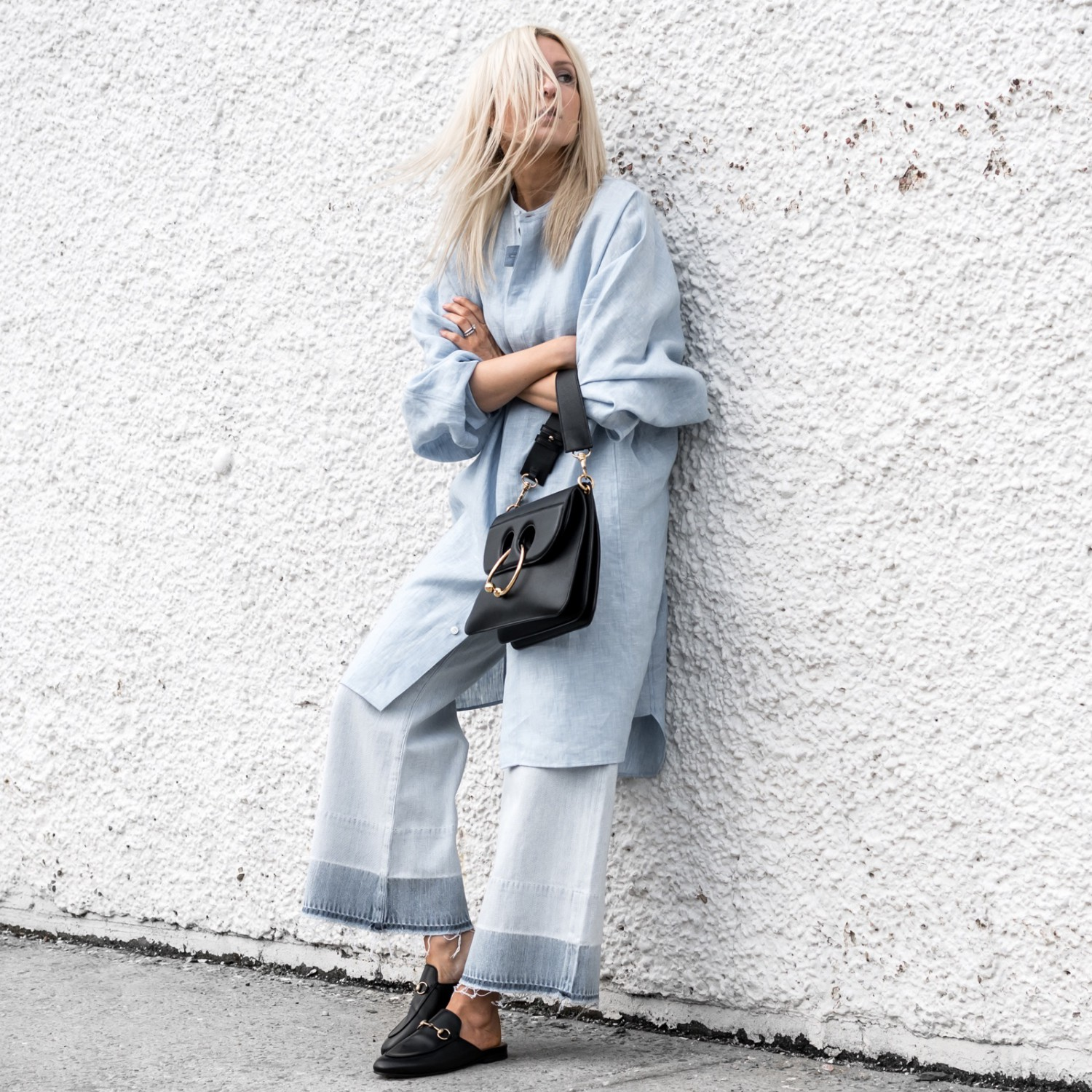 figtny.com | Chambray Shirts + Cropped Denim