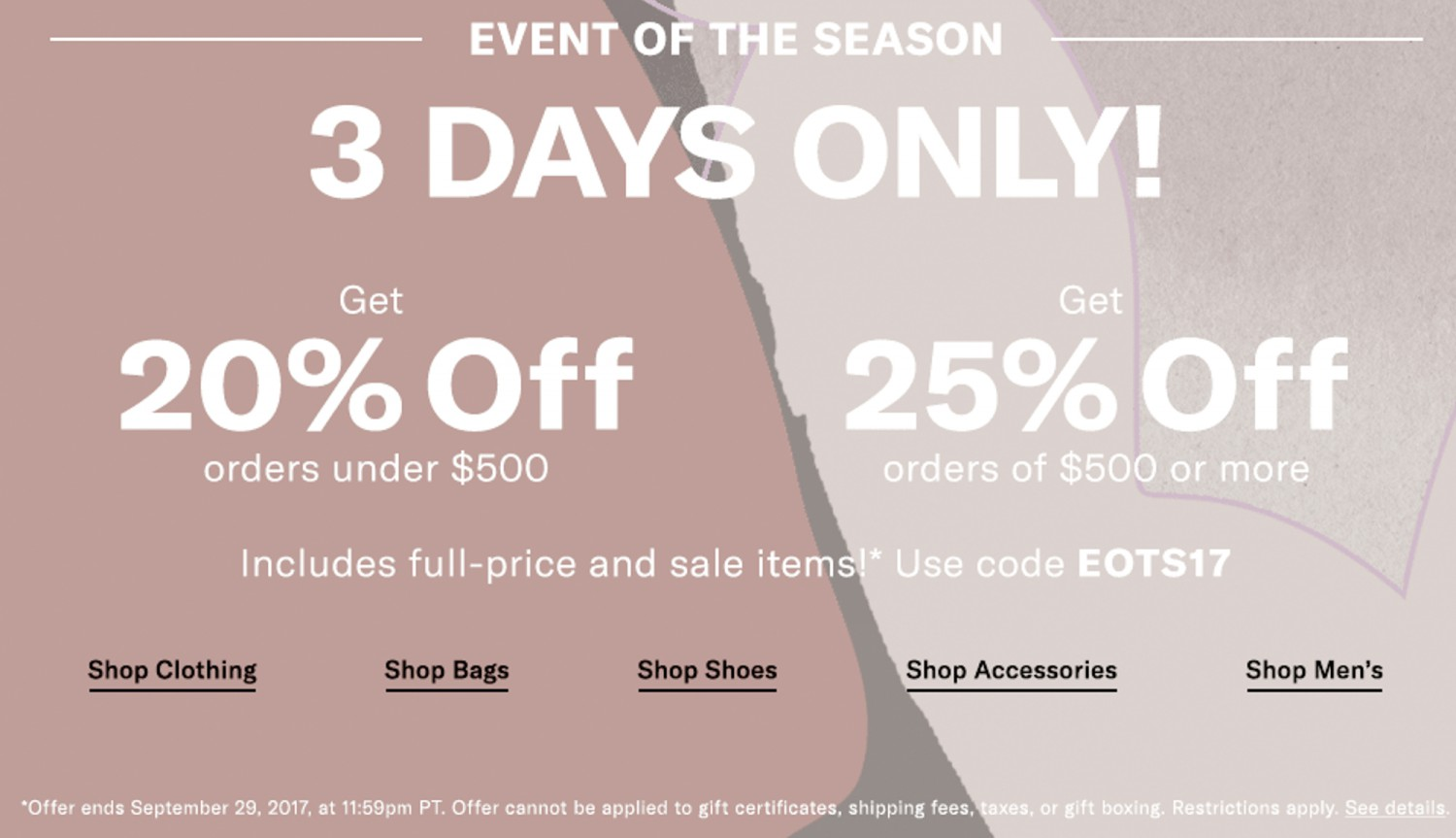 Shopbop Event of the Season