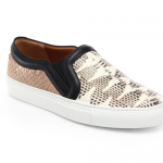 current obsession / Givenchy snake embossed leather slip ons
